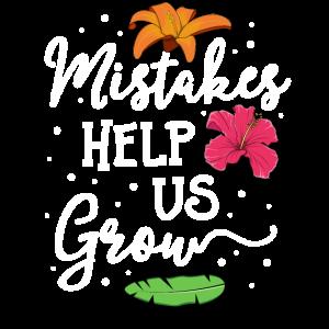 Fehler helfen uns, Lehrer-T-Shirt-Güte zu wachsen