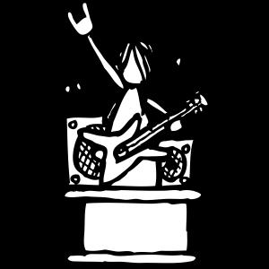 Männchen - Gitarrist - sw