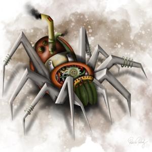 Steampunk Mechanische Spinne