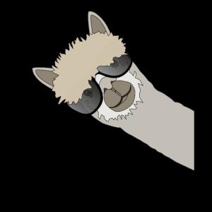 Cooles Lama Alpaka Mit Sonnenbrille