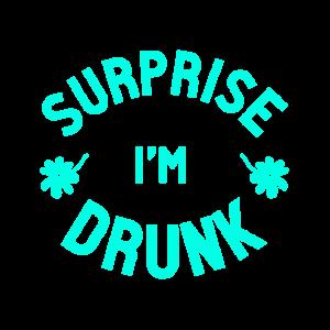 Überraschung bin betrunken besoffen blau hacke