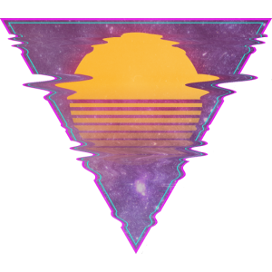 triangle yellow sun scanlines