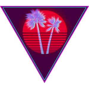 video triangle red pixel