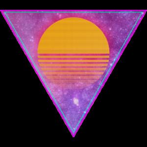 triangle yellow sun pixel