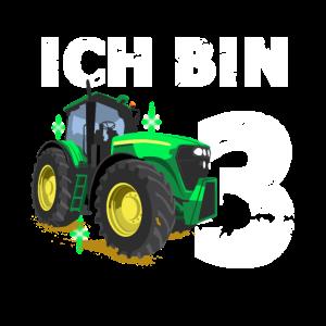 Geburtstag Junge Traktor Ich bin 3 Jahre