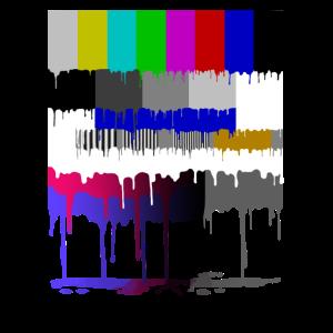 Retro 80er Party 90er Fernseh Testbild
