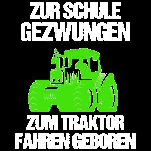Traktor Traktoren Trecker Schule Spruch Geschenk
