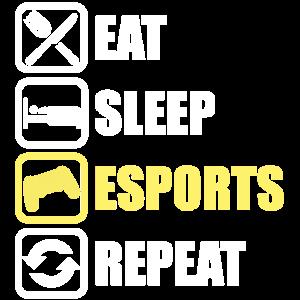 Esports Shirt Eat Sleep Esports Repeat