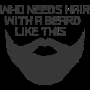 Who Needs Hair With A Beard Like This