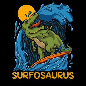 Surfosaurus T Rex - Lustiger Dinosaurier-Surfer