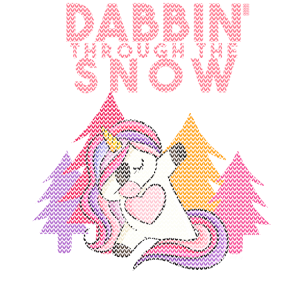 Dabbin Ugly Christmas Einhorn Sweater