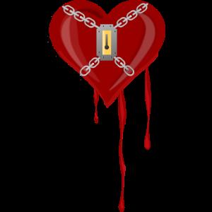 Herz mit Schloss
