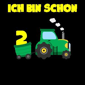 Ich bin 2 Zwei Jahre alt Geschenk Traktor Trekker