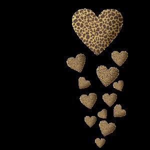 Leopardenmuster Herzen - Gesichtsmaske Katze