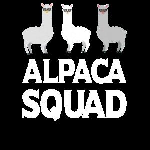 Alpaca Squad Lama Alpaka Geschenkidee