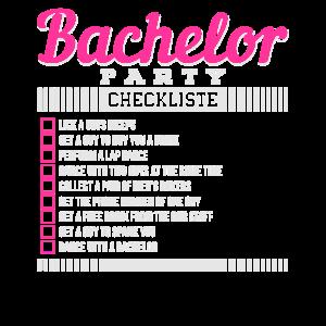 Bachelor todo Junggesellenabschied Checkliste