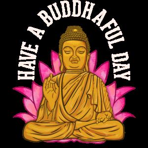 Niedlich haben Sie ein buddhistisches Meditieren Buddhaful Tages