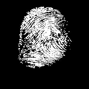Musikinstrument aus Messing - Lustiger Fingerabdruck