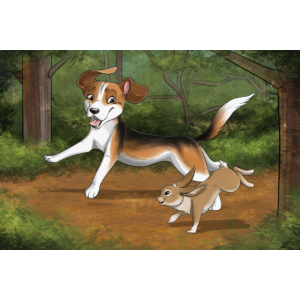 Beagle Rabbit Poster