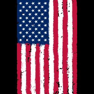 American Flag Distressed Vintage T Shirt