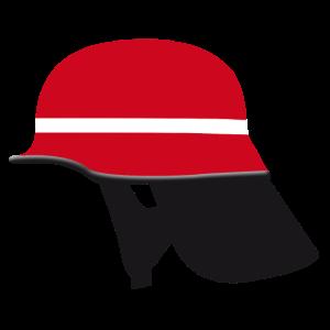 Roter Feuerwehrhelm