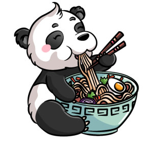 Ramen Japanische Nudeln Kawaii Panda Geschenk