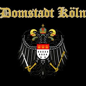 Großes Wappen von Köln mit goldenem Schriftzug
