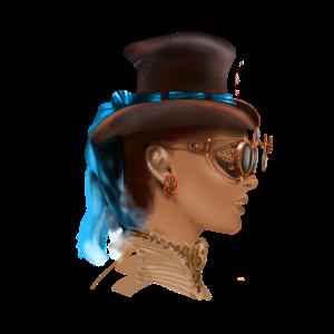Girl face steampunk