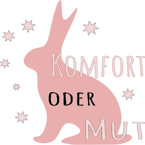 Komfort oder Mut Hase Illustration