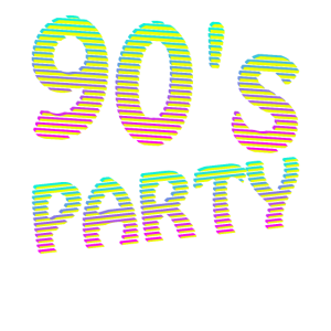 90er Jahre Outfit Tshirt - 90's Party