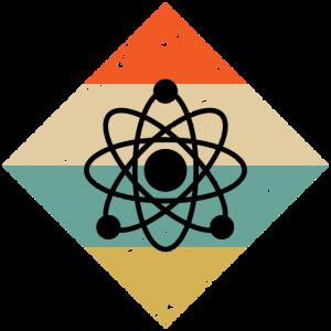 Atom Chemie Vintage Geschenk