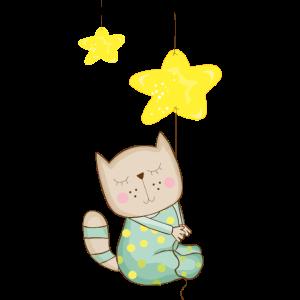 Katze im Schlafanzug