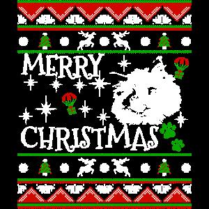 Niedliches Ragdoll Kätzchen-Weihnachtskatzen-Geschenk