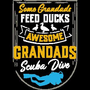 Awesome Grandads Scuba Dive - Opa Taucher Tauchen