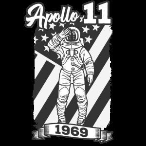 Apollo 11 Mondlandung 1969 Astronaut USA