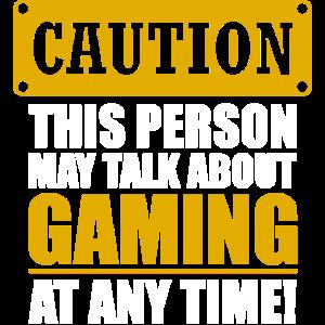 Gaming Shirt Caution