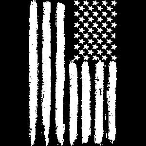Grunge American Flag T Shirt July 4Th Gift