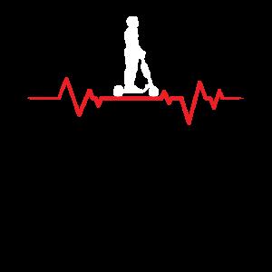Herzschlag Kardioide Heartbeat Elektro Roller EKG