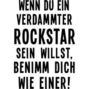 rock'n'roll Zitat Metal Bühne on stage