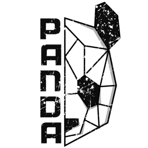 Cooles Panda Bär T-Shirt Kopf Kunst Geschenkidee