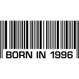 barcode born in 1996 20th birthday 20. Geburtstag