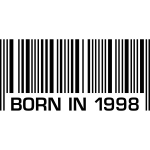 barcode born in 1998 18th birthday 18. Geburtstag