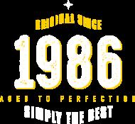 Jahrgang 1980 Geburtstagsshirt: original since 1986 simply the best 30th birthday