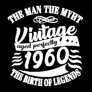60. Geburtstag Der Mann Die Legende Vintage Style