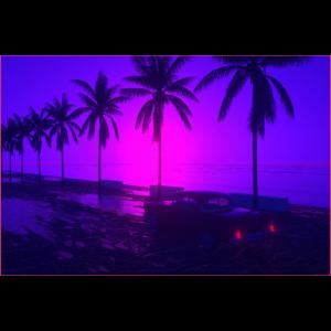 80s Style Beach