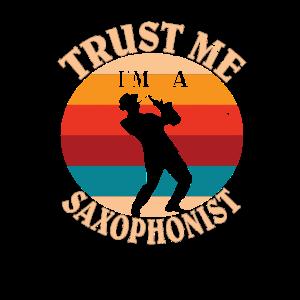 Holzblasinstrumente - Lustiges Retro Saxophon