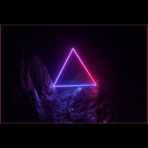 80s Pop Art Dreieck