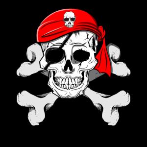 Piratenkopf Totenkopf Schädel mit Knochen