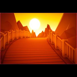 Sonnenuntergang Brücke