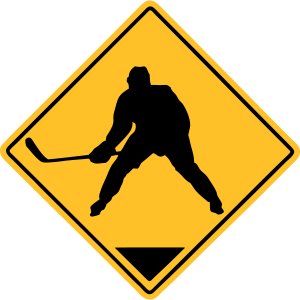 Hockey Road Sign